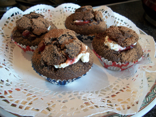 black forest cake cupcake