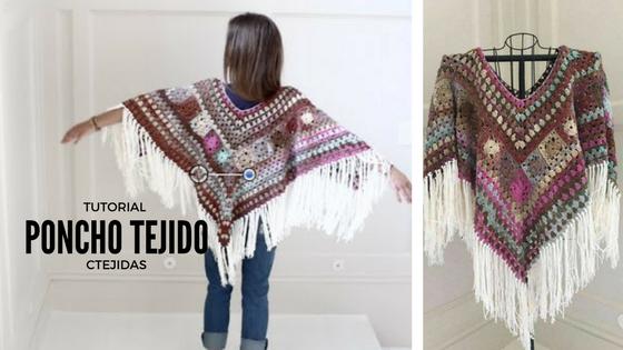 "Tutorial #191: Poncho ""Boho Style"" Tejido - Paso a Paso"