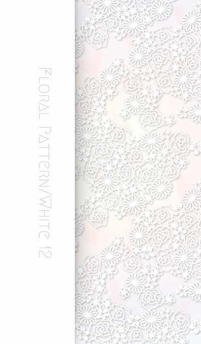 Floral Pattern[Rose]/White 12