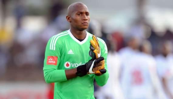 Orlando Pirates goalkeeper Jackson Mabokgwane