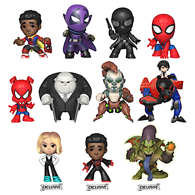 a40e2837e18cf Vinyl versions of Miles Morales, Green Goblin, Prowler, Spider-Gwen, a  jumping Peter Parker, and Spider-Man Noir! Spider-Ham and Spider-Man Noir  can be ...