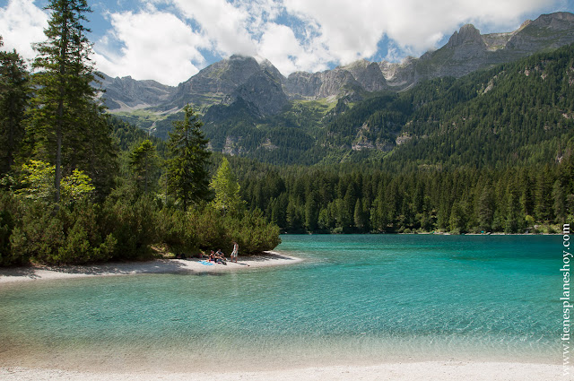 Lago di Tovel paisajes viaje a Italia