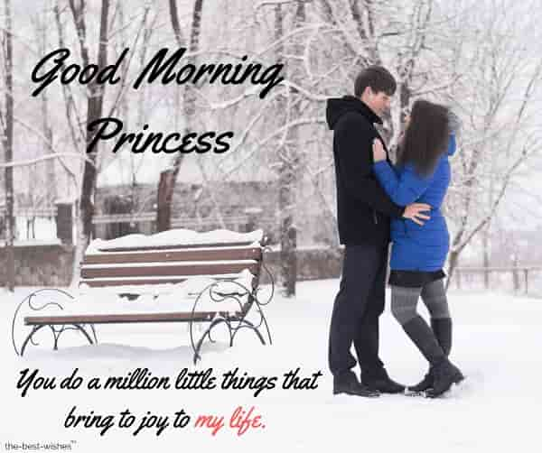 romantic good morning text for princess