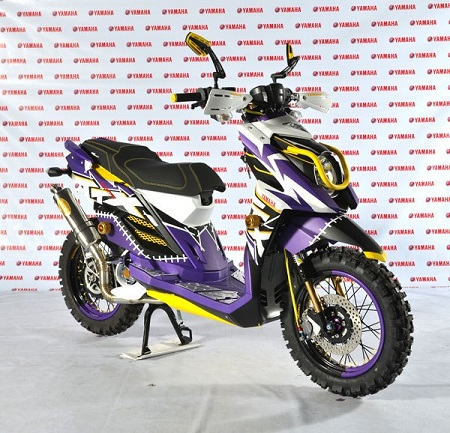 Modifikasi yamaha x ride supermoto