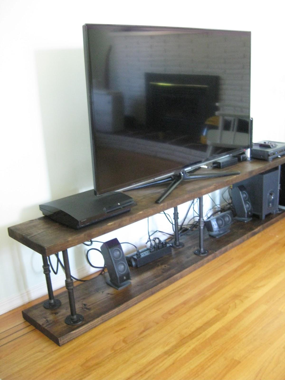 Life: Designed: DIY Industrial TV Console