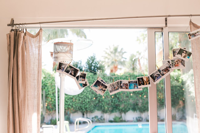 how to throw a pool party, polaroid pictures, 30th birthday party ideas