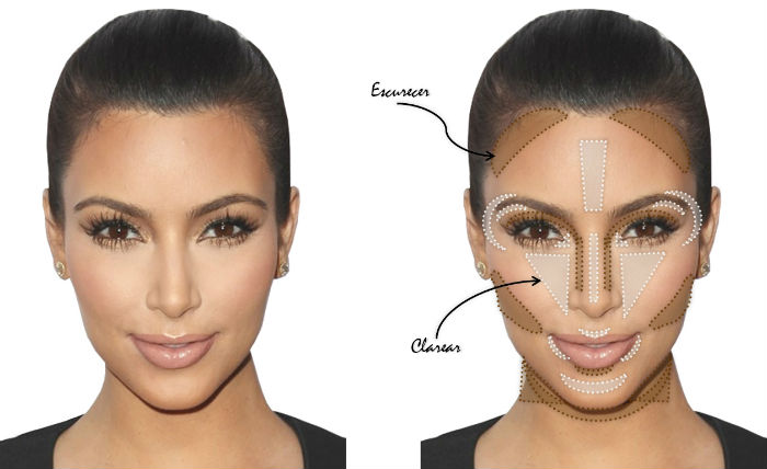 contorno de rosto kim