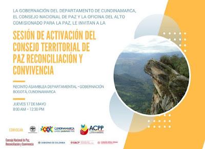 Asamblea de Cundinamarca - Instalación del Consejo Departamental de Paz