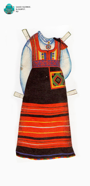 Бумажные куклы скачать СССР, советские. Народные костюмы. Бумажные куклы в национальных костюмах Эстония Таллин СССР.