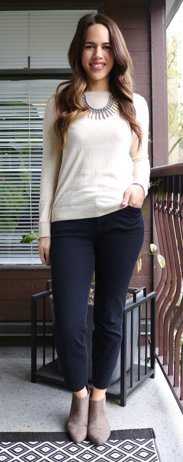 Jules in Flats - Neutral Spring Outfit