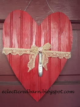 Eclectic Red Barn: Upcycled Bead Board Valentine