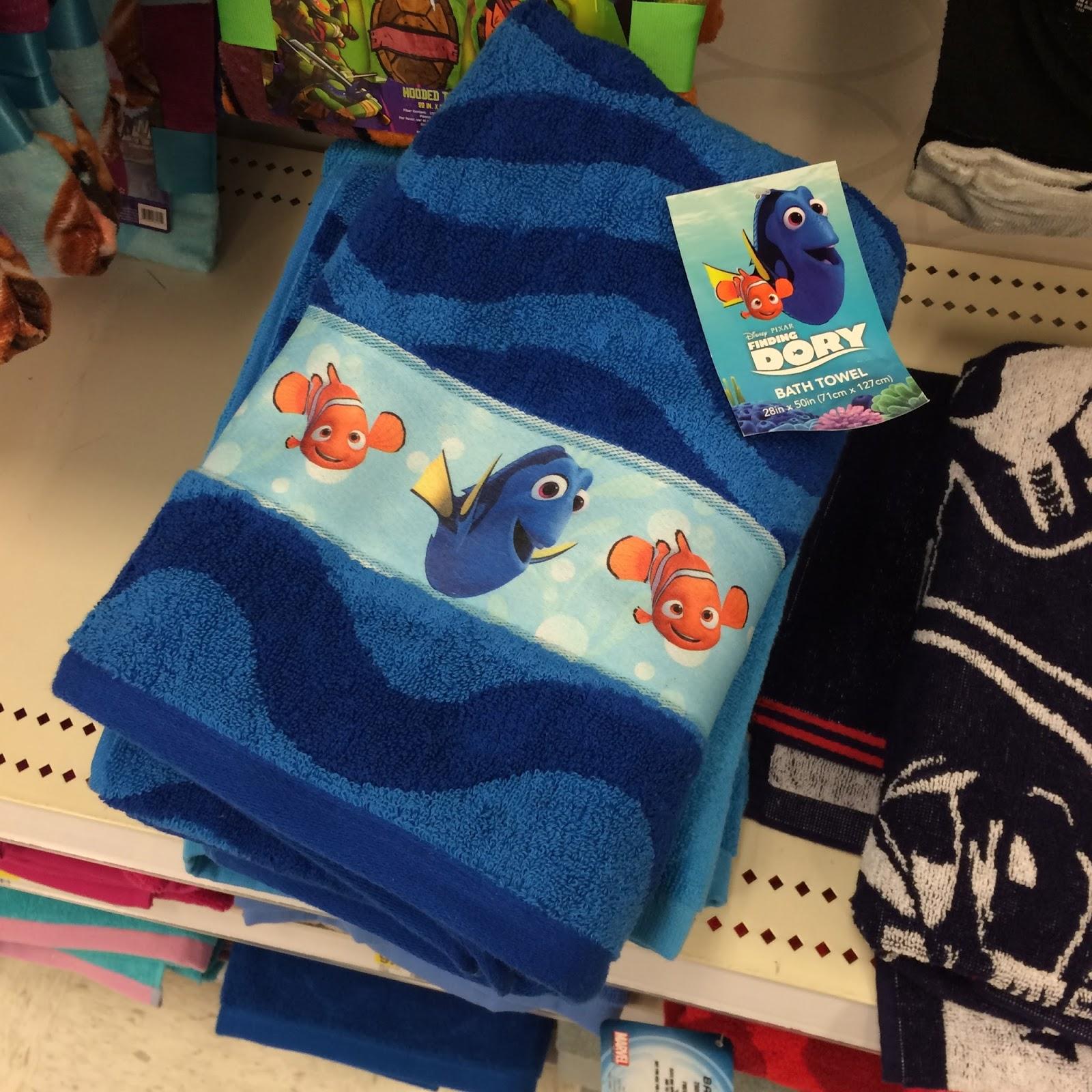 Finding Nemo Bath Towel Set: Dan The Pixar Fan: Events: Finding Dory Merch Release