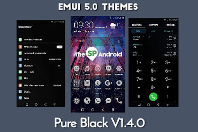 Download Pure Dark Theme For Huawei EMUI 5