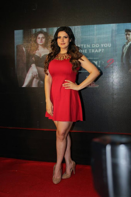 Zareen Khan Stills At Aksar 2 Movie Trailer Launch