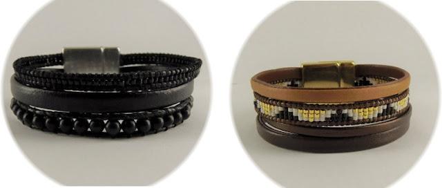 bracelet manchette couleur chaude