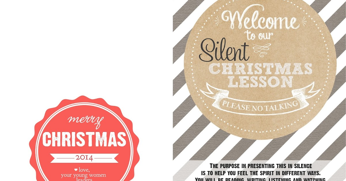 silent christmas lesson updated
