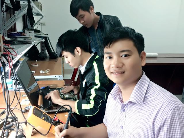 Phòng học sửa chữa laptop tại cơ sở Thái Hà