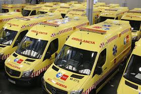 Nuevas ambulancias del transporte sanitario urgente del SUMMA 112