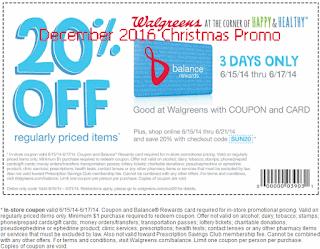Walgreens coupons december