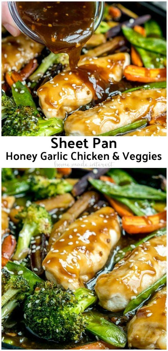 Sheet Pan Honey Garlic Chicken and Veggies