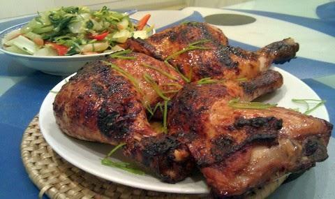 Flavored bean curd sauce grilled chicken