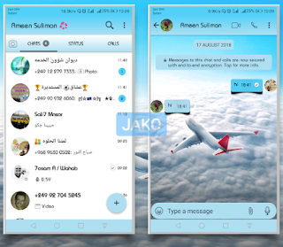 Airplane Theme For YOWhatsApp & Fouad WhatsApp By Jako