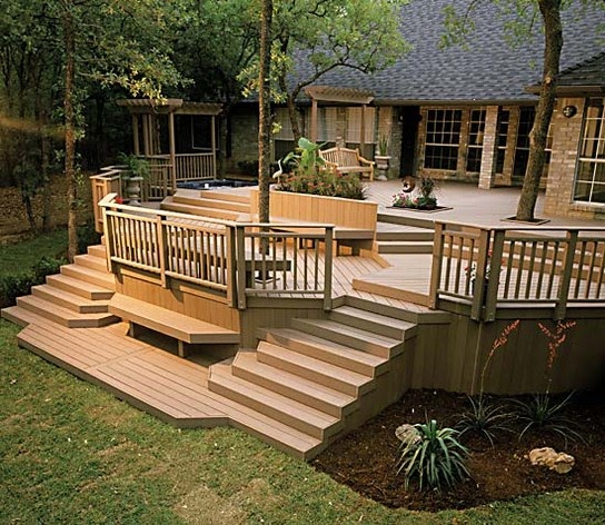 Patio Deck And Pool Deck Building Plans: Patio Deck Railing Design: How To Build A Deck Step By Step