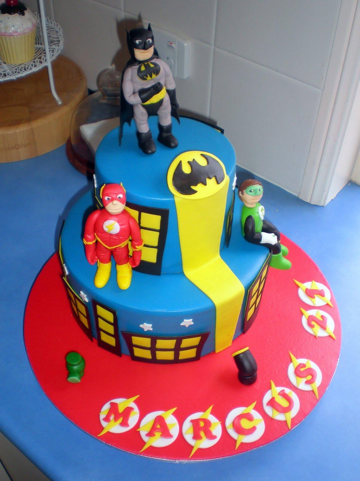 Making A Superhero Cake