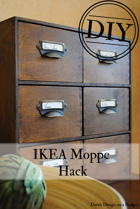 dutch design on a budget moppe ikea hack vintage card catalog. Black Bedroom Furniture Sets. Home Design Ideas