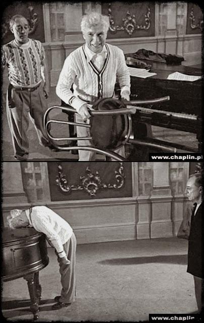 """Чарли Чаплин и Бастер Китон на репетиции """"Огней рампы"""" 1"""