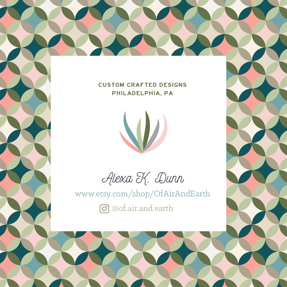 Here Is The Completed Logo Business Card Sticker Banner And Care That Will Come With Each Purchase Of An Air Plant