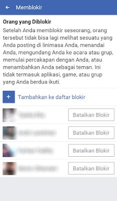 Batalkan Blokir di FB Lite