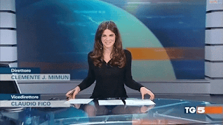Female broadcaster wardrobe malfunction