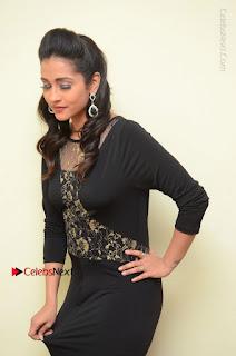 Telugu Actress Manasa Manohar Stills in Black Long Dress at Naku Nene Thopu Turumu Trailer Launch  0007.JPG