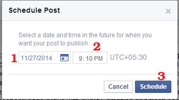 Post Scheduling on Facebook Page
