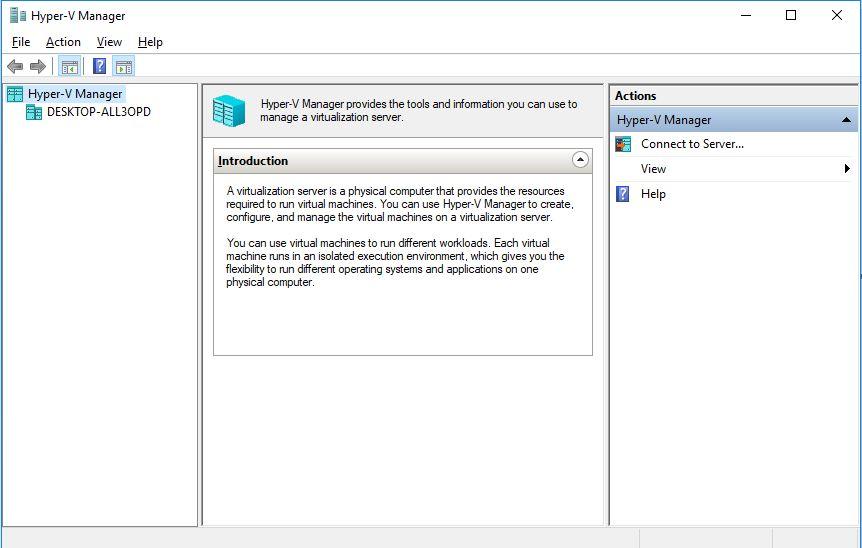 Use Hyper-V on Windows 10