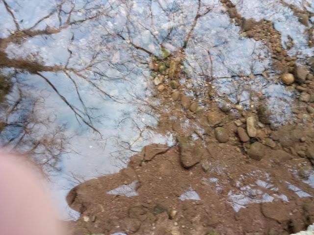 Reflejo de ciclista en rio