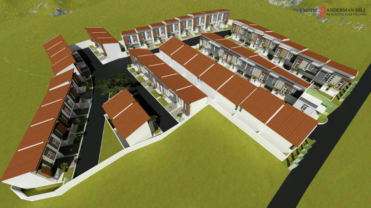 Ini adalah masterplan Exotic Panderman Hill, perum villa di Batu Malang dekat BNS dan Jatim Park tampak atas.
