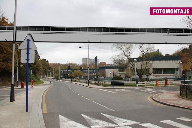 Fotomontaje del proyecto de puente en Gorostiza