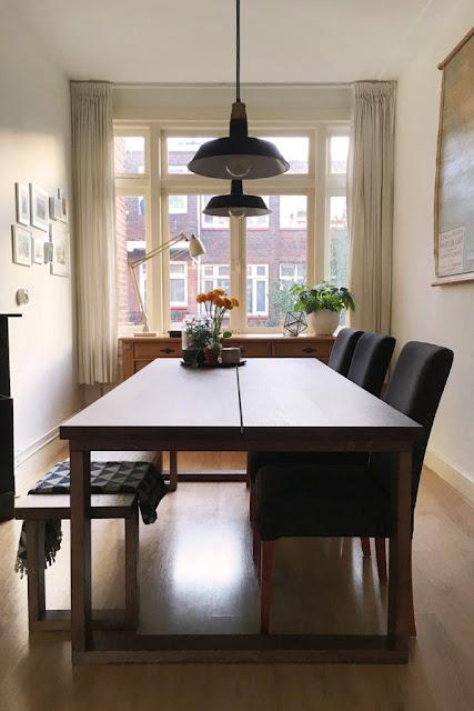 eetkamer met nieuwe tafel