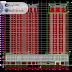 مخطط مشروع عمارة سكنية مزدوجة 18 طابق اوتوكاد كاملا DWG