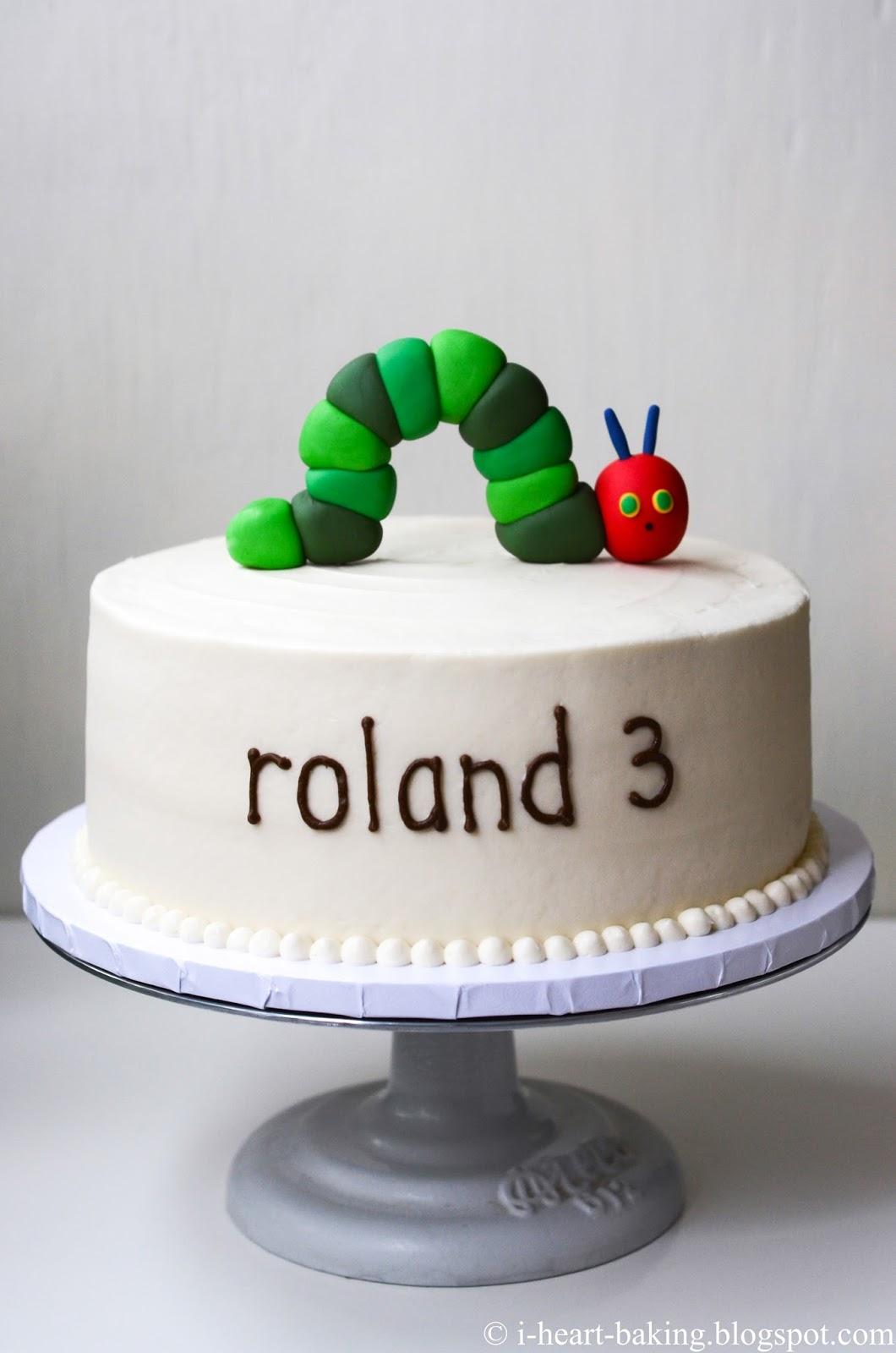I Heart Baking Hungry Caterpillar Birthday Cake With Handmade
