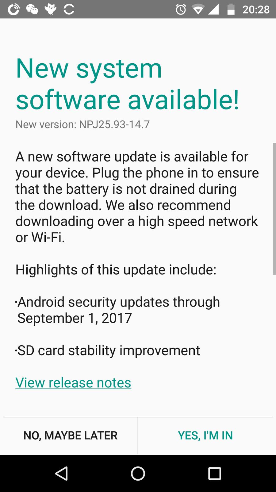 Moto G4 Plus and ASUS Chromebook C202SA update