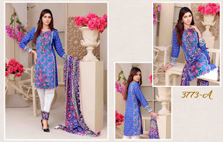 Quest by beauty Embroidered Lawn with Brochia/Jacquard Dupatta by Tawakkal