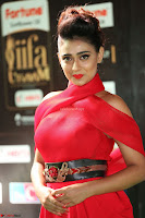 Apoorva in a Stunning Tight Leg Split Sleeveless Red Gown at IIFA Utsavam Awards 31.JPG
