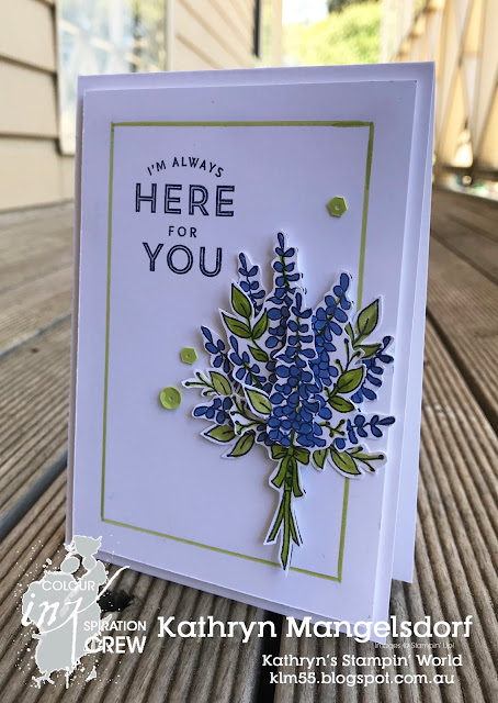 Stampin' Up! Lots of Lavender, Sale-A-Bration, CI25, Colour INKspiration designed by Kathryn Mangelsdorf