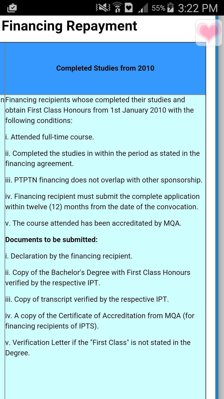 official application letter for ptptn exemption