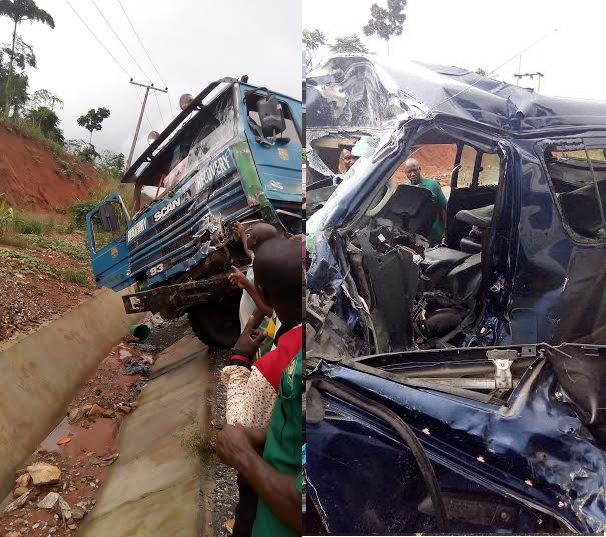Shocking Photos: Accident Involving Truck And Bus On Ore