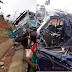 Shocking Photos: Accident Involving Truck And Bus On Ore-Lagos Road, Today