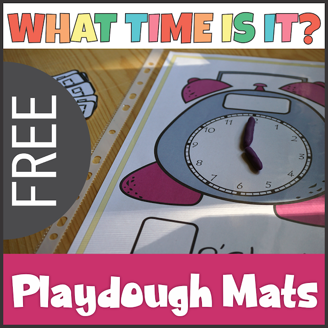 https://www.teacherspayteachers.com/Product/FREE-Clock-Play-Dough-Mats-Telling-Time-4050771